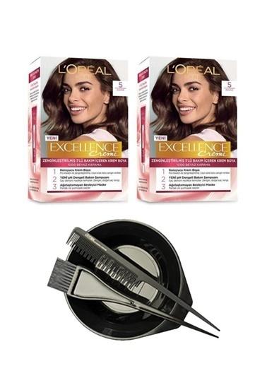 L'Oréal Excellence Creme 5 X 2 + Saç Boyama Seti Renksiz